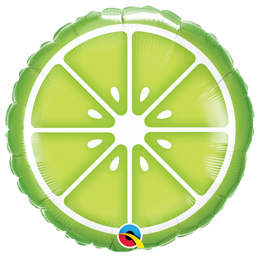 "Sliced Lime 18"" Foil Balloon"