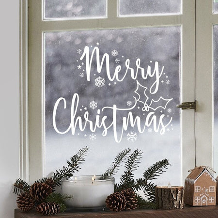 Merry Christmas Window Sticker - Pack of 2