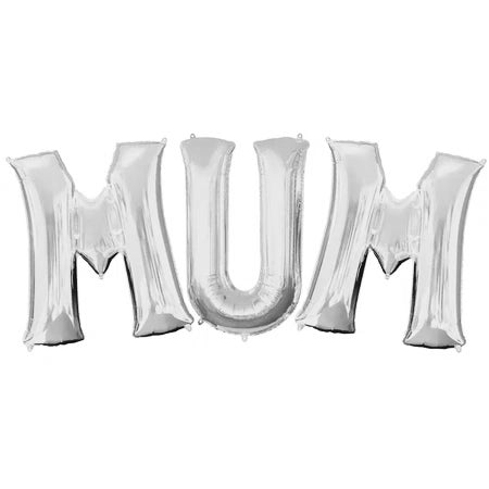 MUM Mother's Day Silver Foil Balloons - 16""