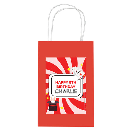 Personalised Magic Party Paper Party Bags - Pack of 12