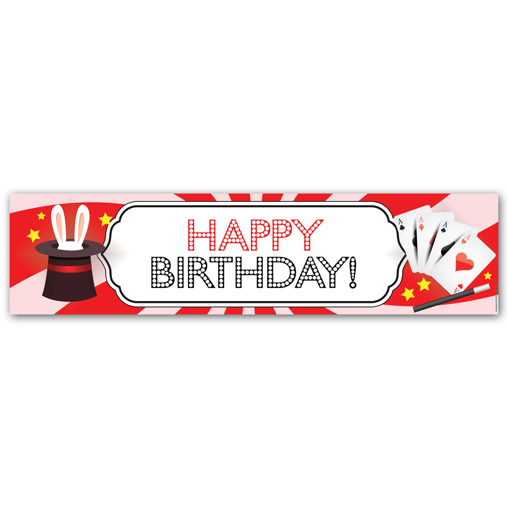 Magic Happy Birthday Wall Banner Decoration - 1.2m