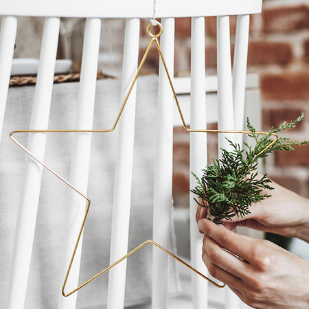 Metal Hanging Star Decorations - 20cm & 28cm - Pack of 2