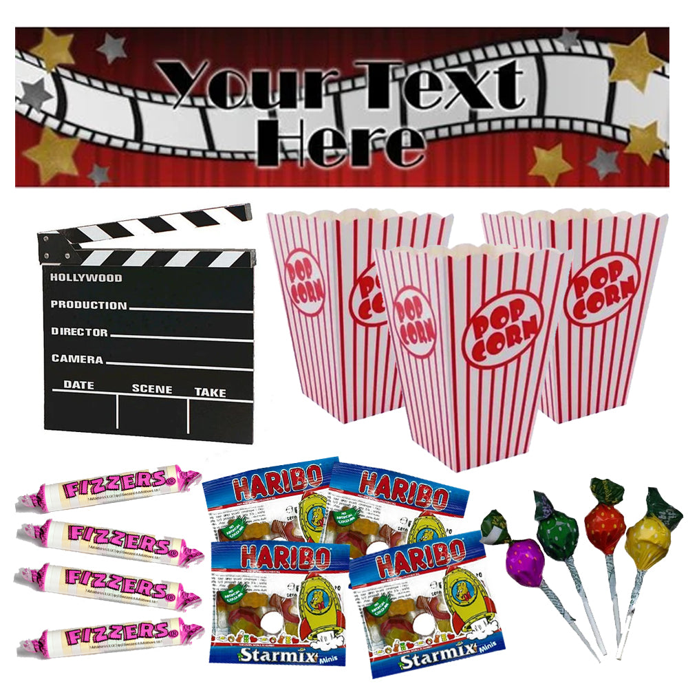 Movie Night Kit With Personalised Banner
