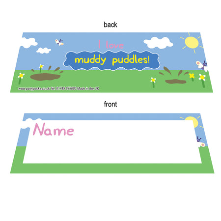 Muddy Pig Placecards - Pack of 8