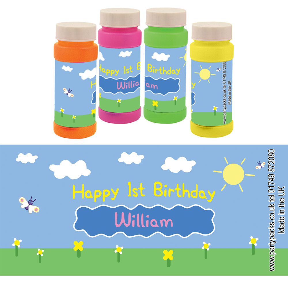 Personalised Bubbles - Muddy Pig - Pack of 6