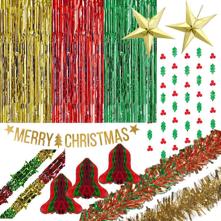 Standard Red, Green and Gold Christmas Decoration Pack
