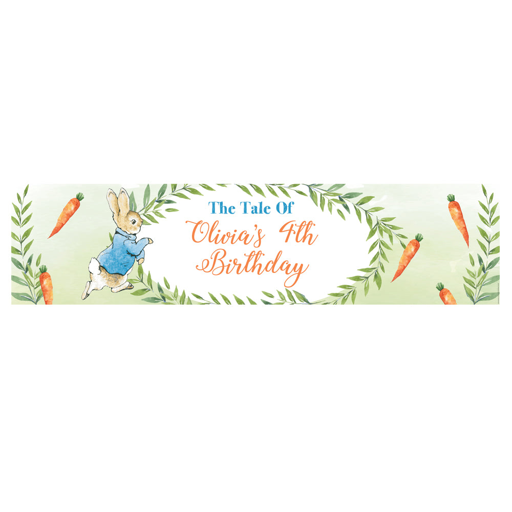 Peter Rabbit Personalised Banner Decoration - 1.2m