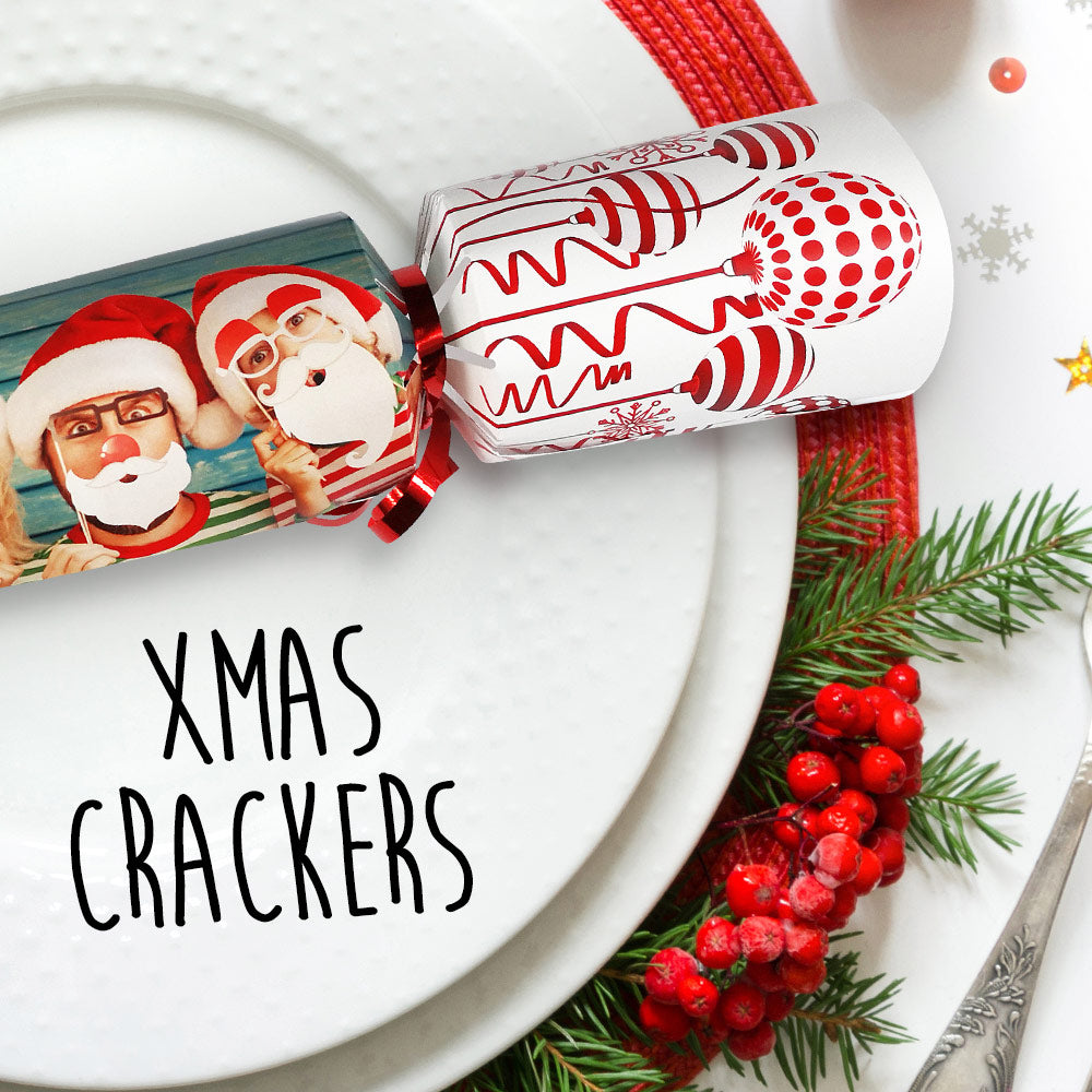 Personalised Photo Christmas Crackers - Pack of 4