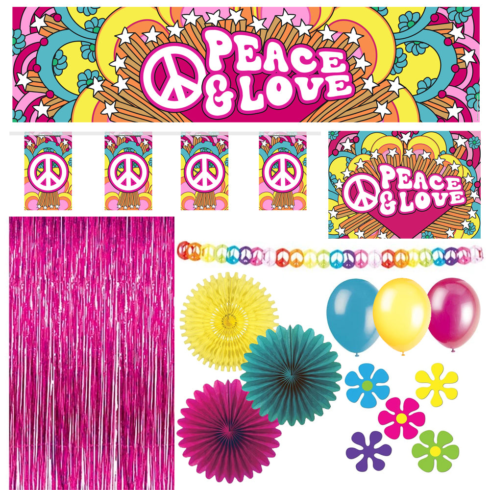 1960's Party Decoration Pack