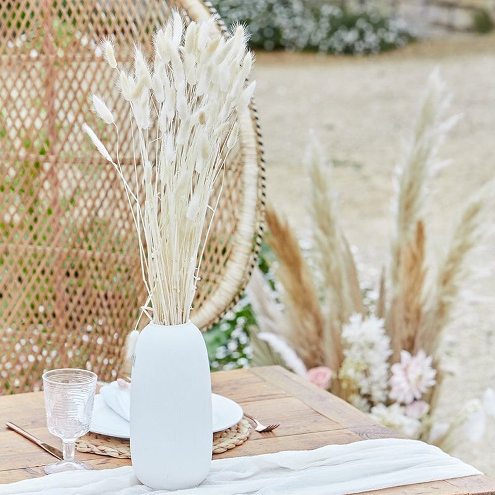 Natural Dried Bunny Tail Grass Stems - 65cm - Pack of 20