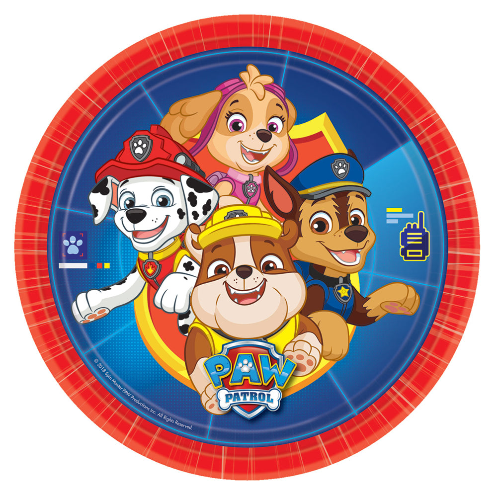Paw Patrol Paper Plates - 23cm - Pack of 8