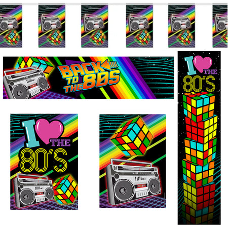Back to the 80's Decoration Pack