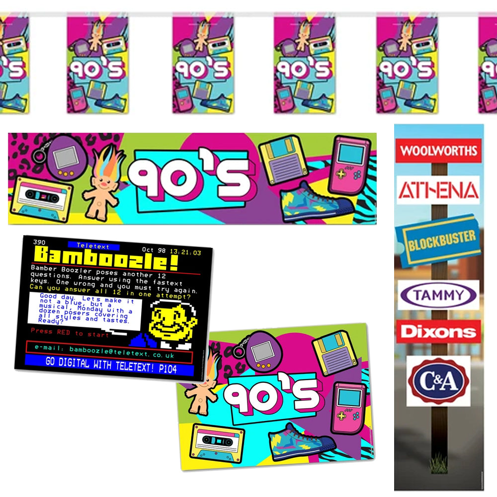 1990's Decoration Banner and Poster Pack