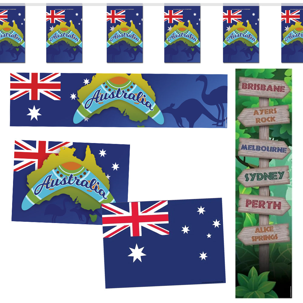 Australia Themed Decoration Pack