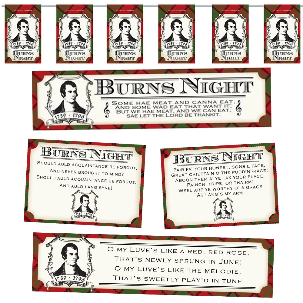Burns Night Poetry Decoration Pack
