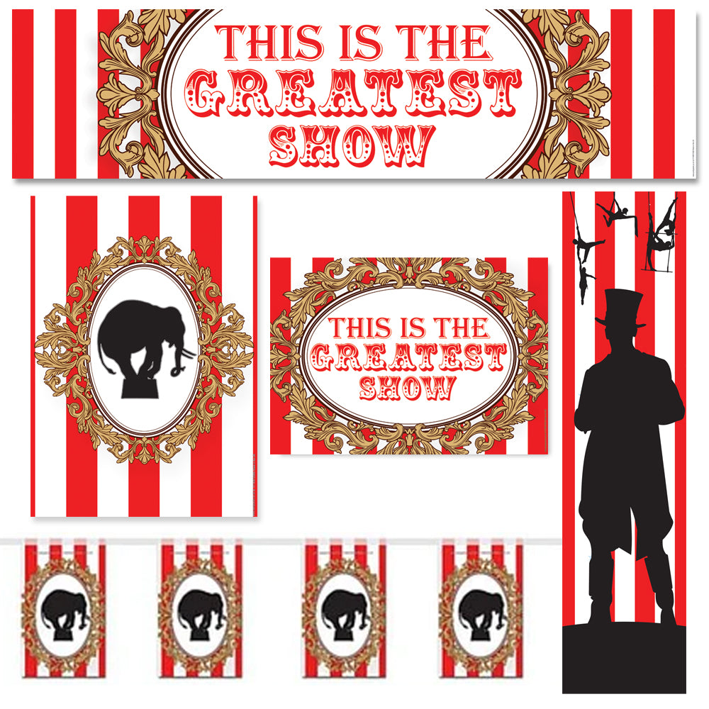The Greatest Showman Circus Decoration Party Pack