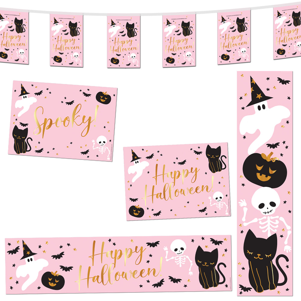 Pink Halloween Decoration Party Pack