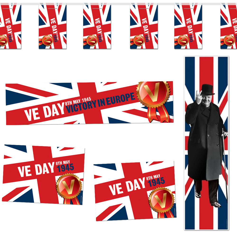 VE Day Union Jack Decoration Party Pack