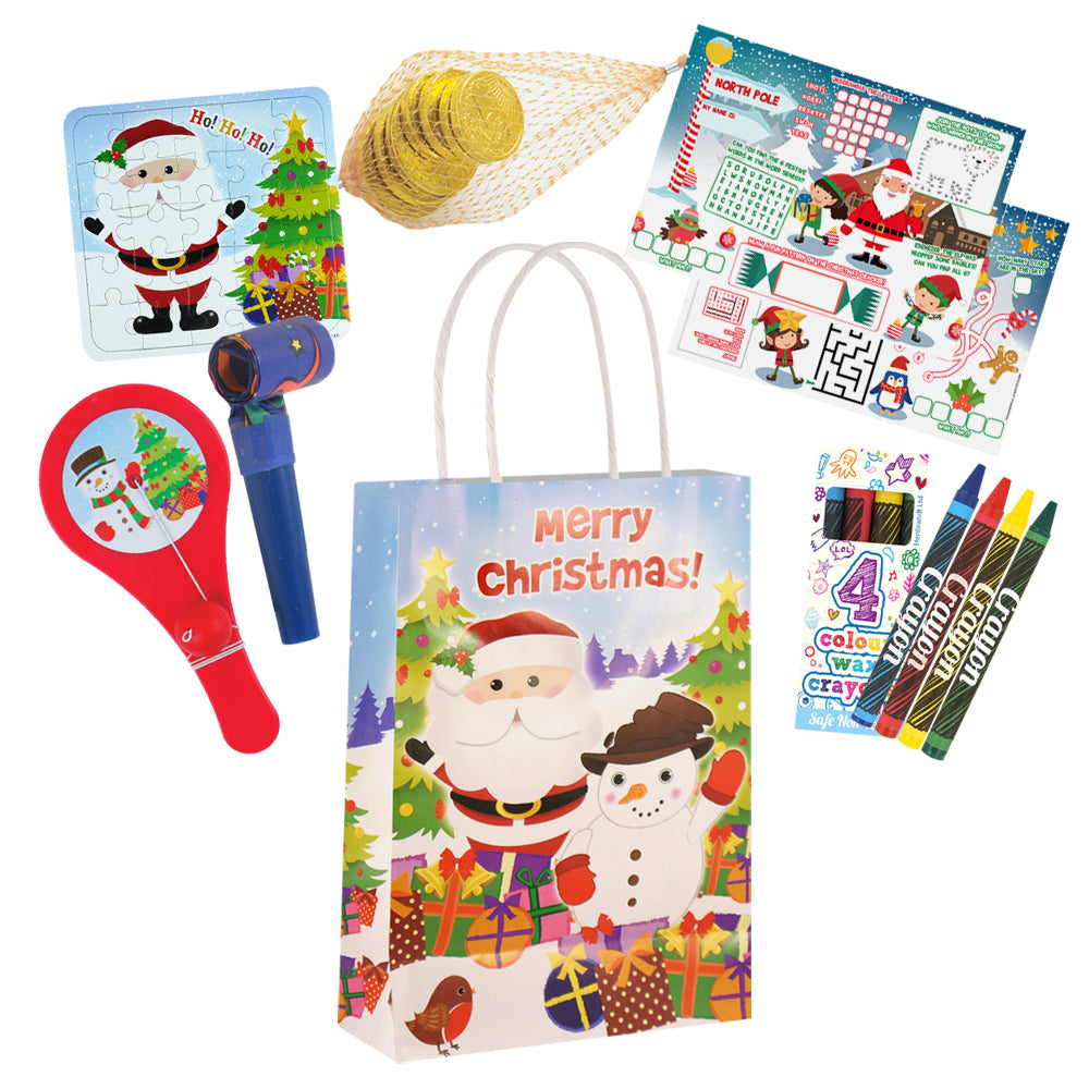 Christmas Party Bags with Fillers for Kids
