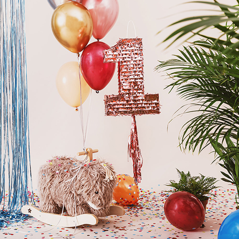 Rose Gold Number One Foil Pinata - 40cm