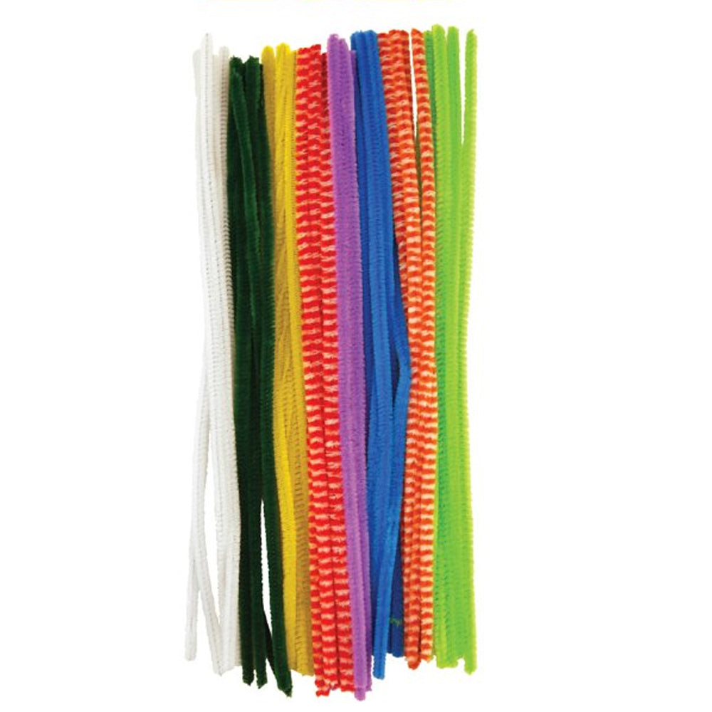 Bright Colour Pipe Cleaners Craft Kit- 30cm - Pack of 30