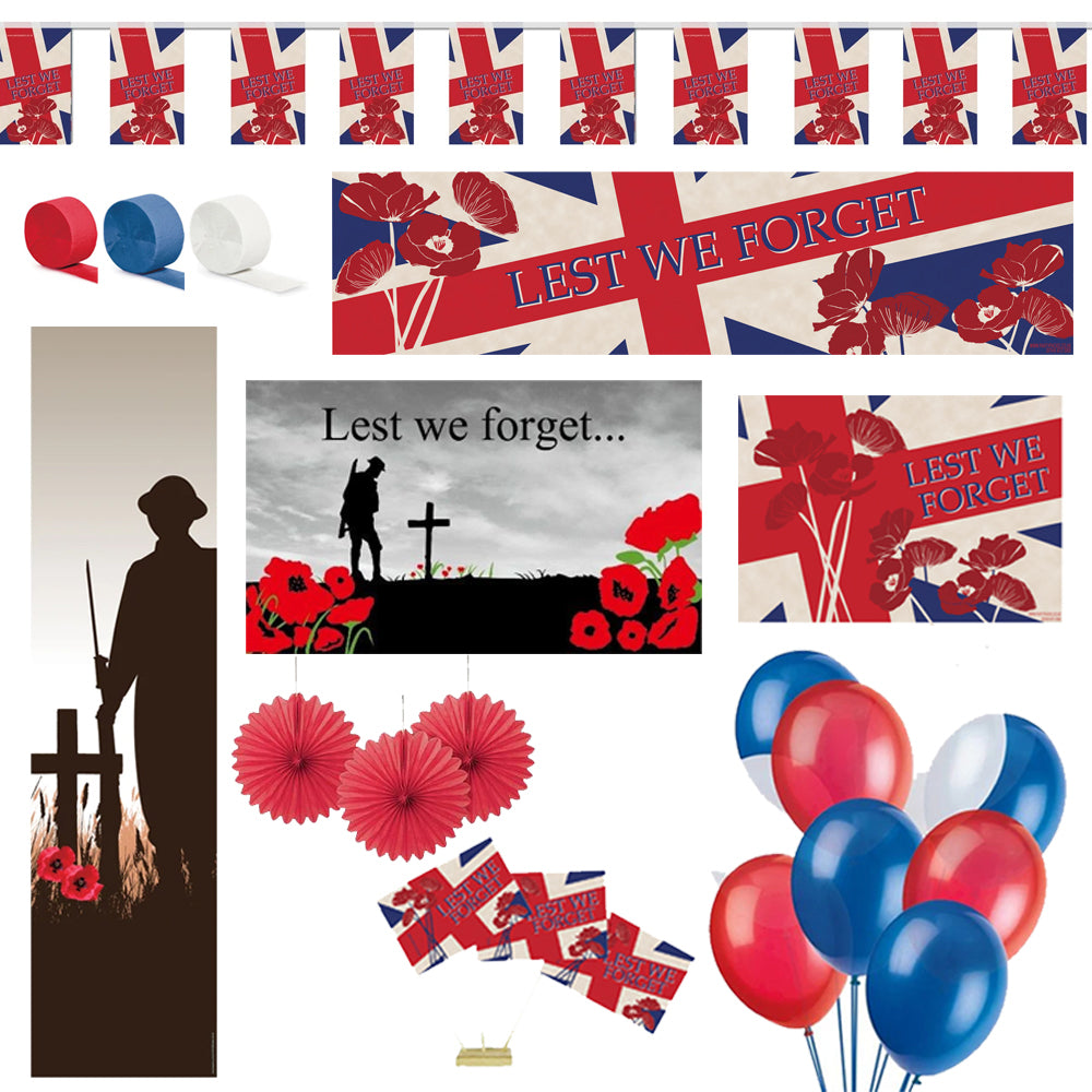 Remembrance Sunday Poppy Decoration Pack