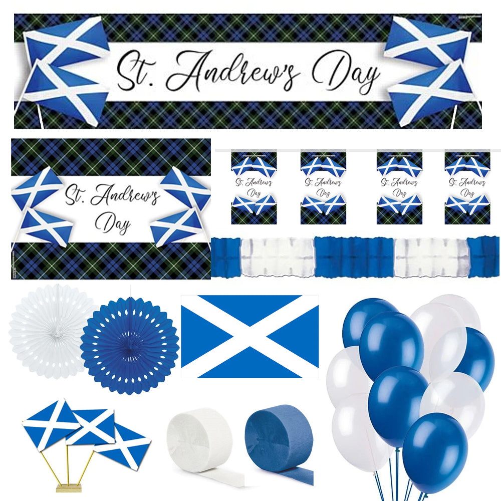 St Andrew's Cross Theme Decoration Pack