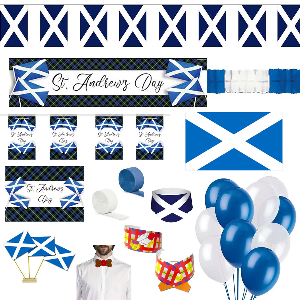 Standard St Andrew's Cross Theme Party Decoration Pack
