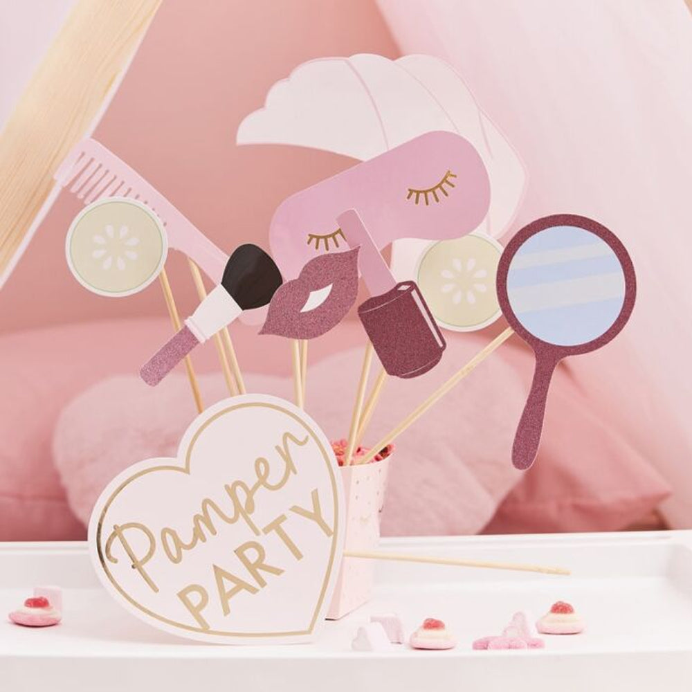 Pamper Party Photo Booth Props - Pack of 10
