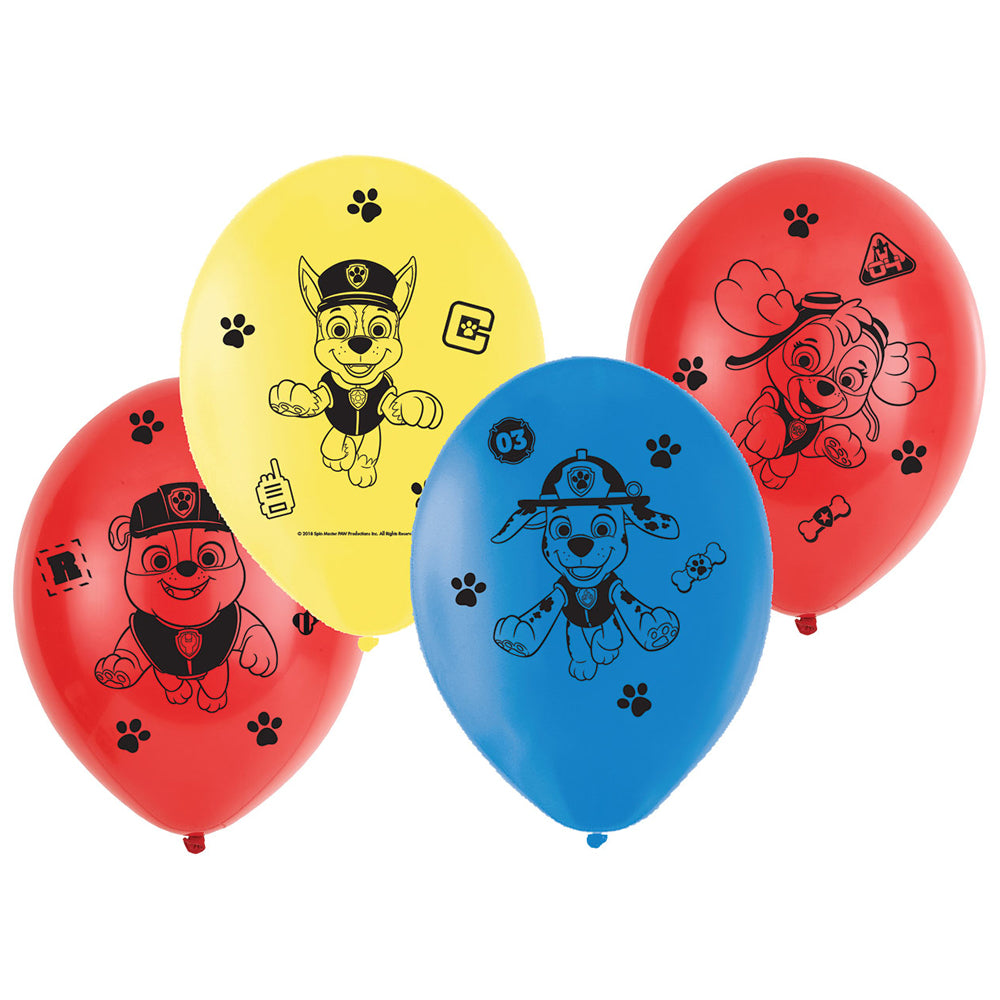 Paw Patrol Latex Balloons - Pack of 6