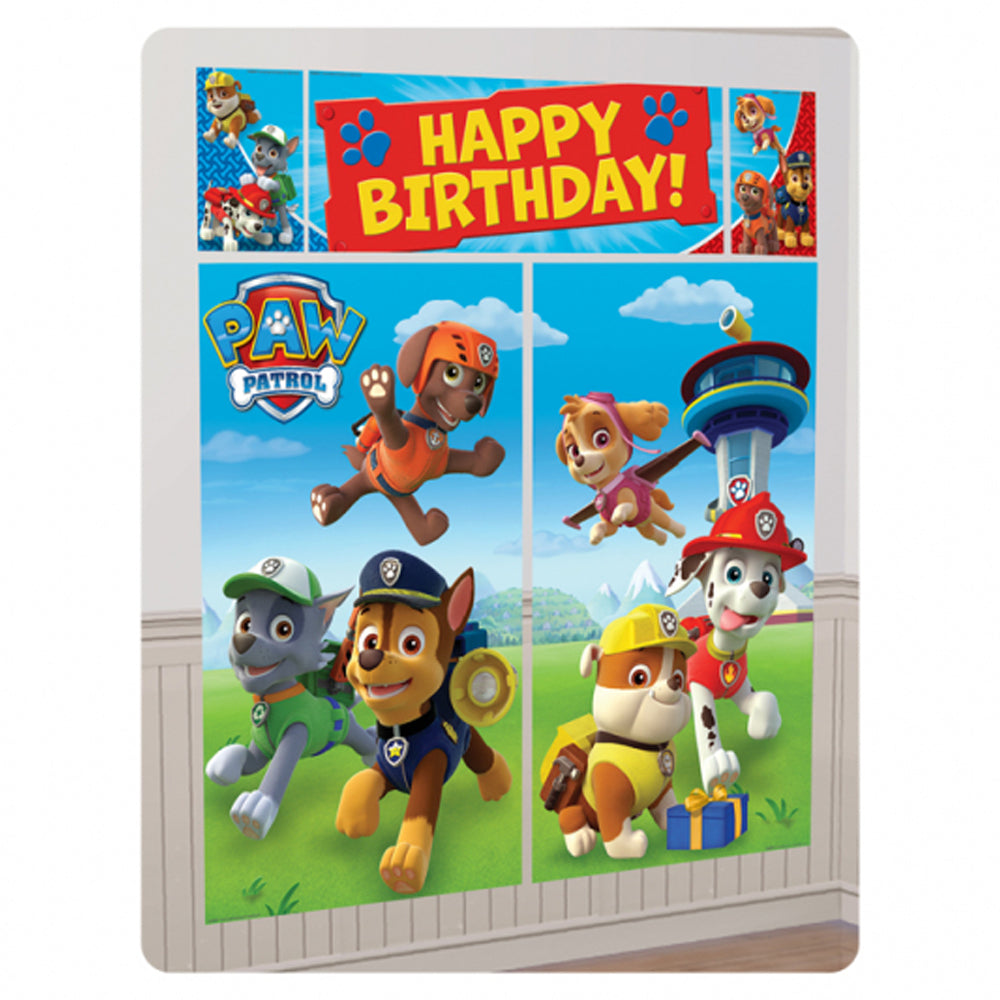 Paw Patrol Scene Setters Wall Decorating Kit - Pack of 5