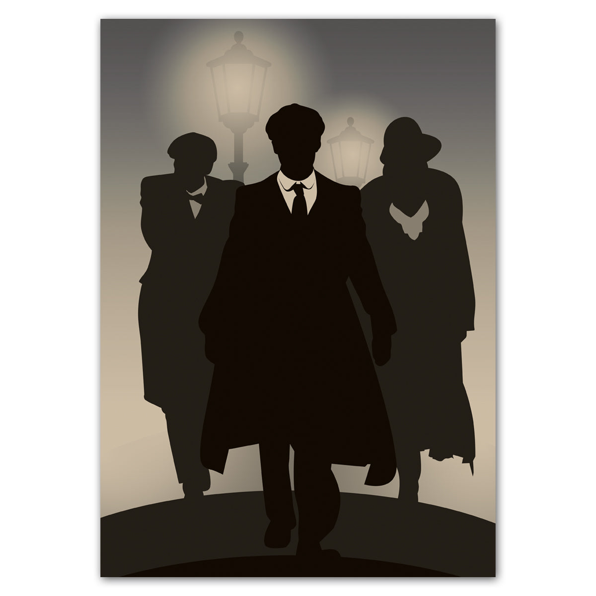 Peaky Blinders Silhouettes Poster Decoration - A3