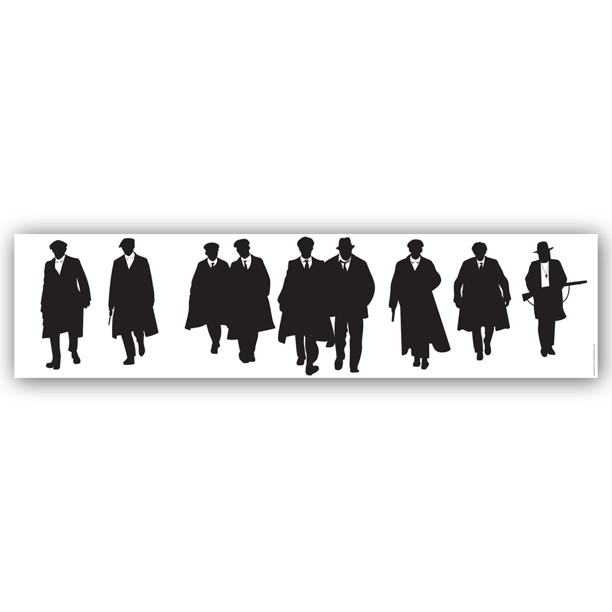 Peaky Blinders Silhouettes Banner Decoration - 1.2m