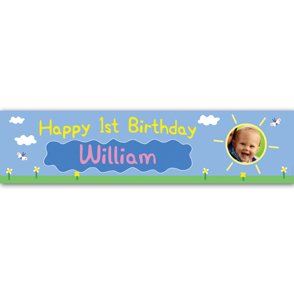 Muddy Pig Personalised Photo Banner - 1.2m