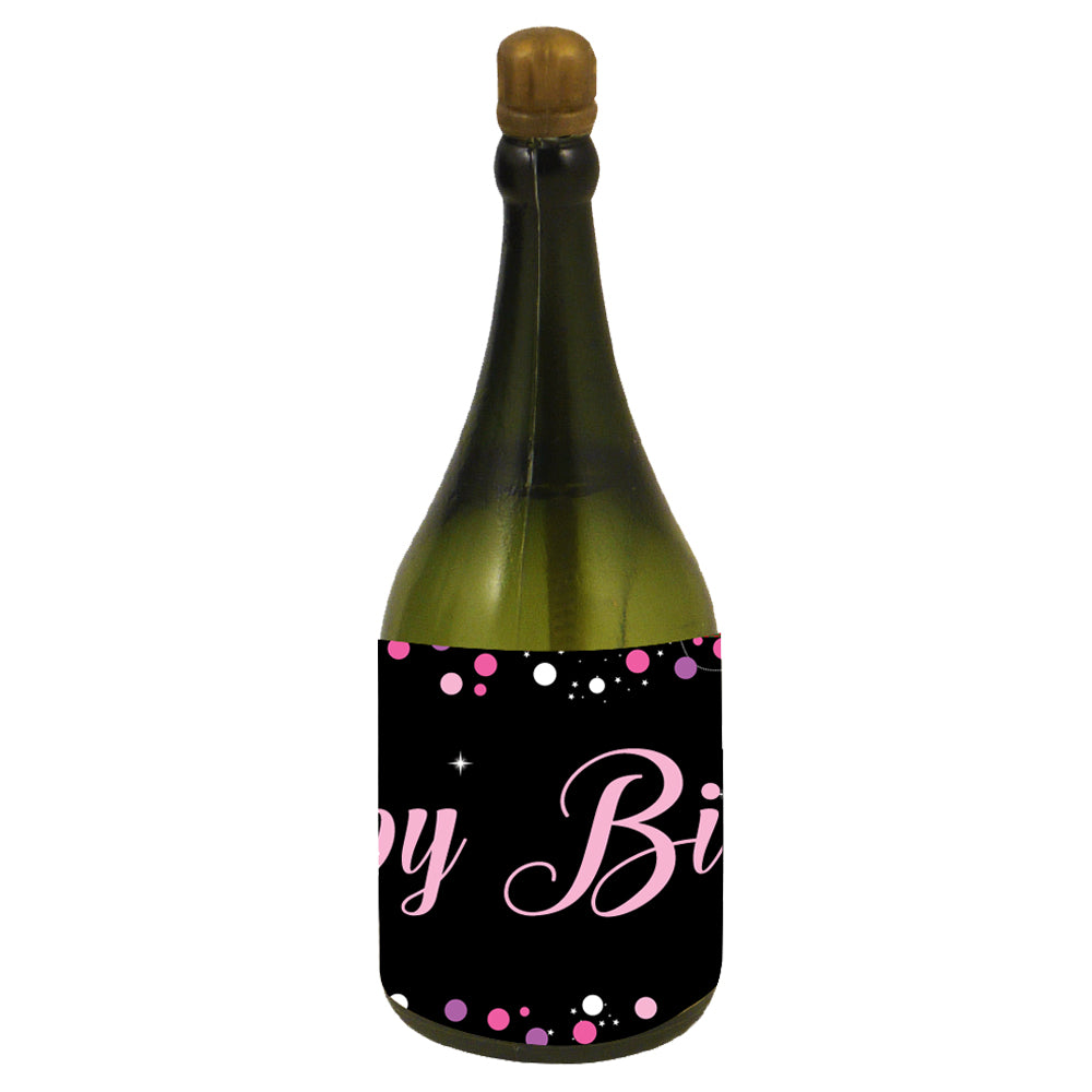 Personalised Champagne Bubbles - Birthday Sparkle Pink - Pack of 16