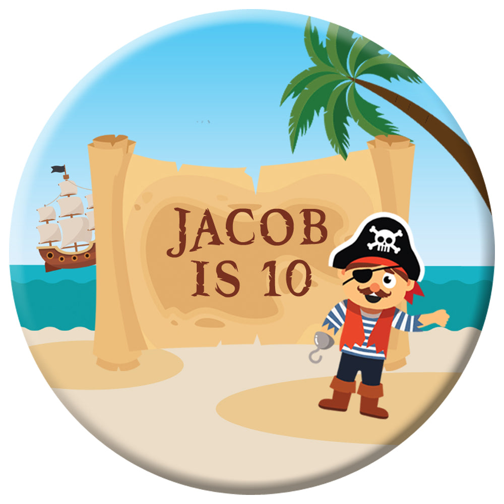Personalised Pirate Badge - 58mm