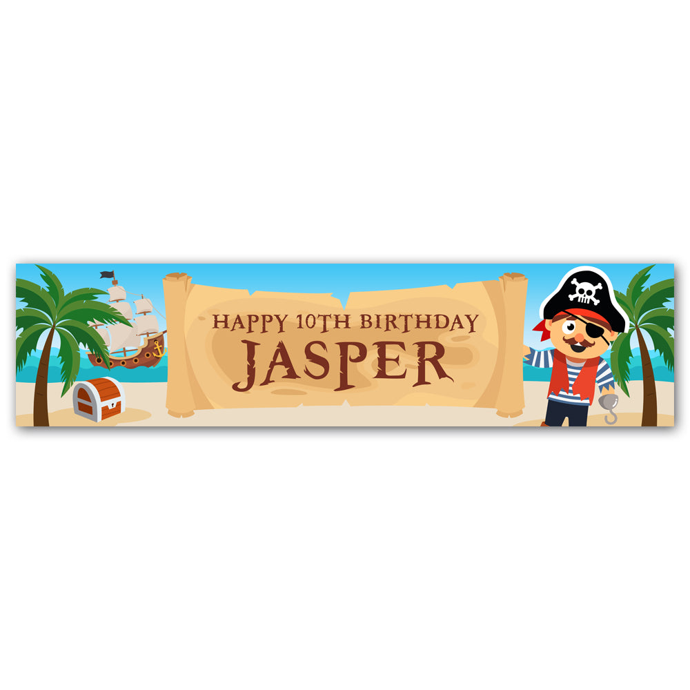 Pirate Personalised Banner Decoration - 1.2m