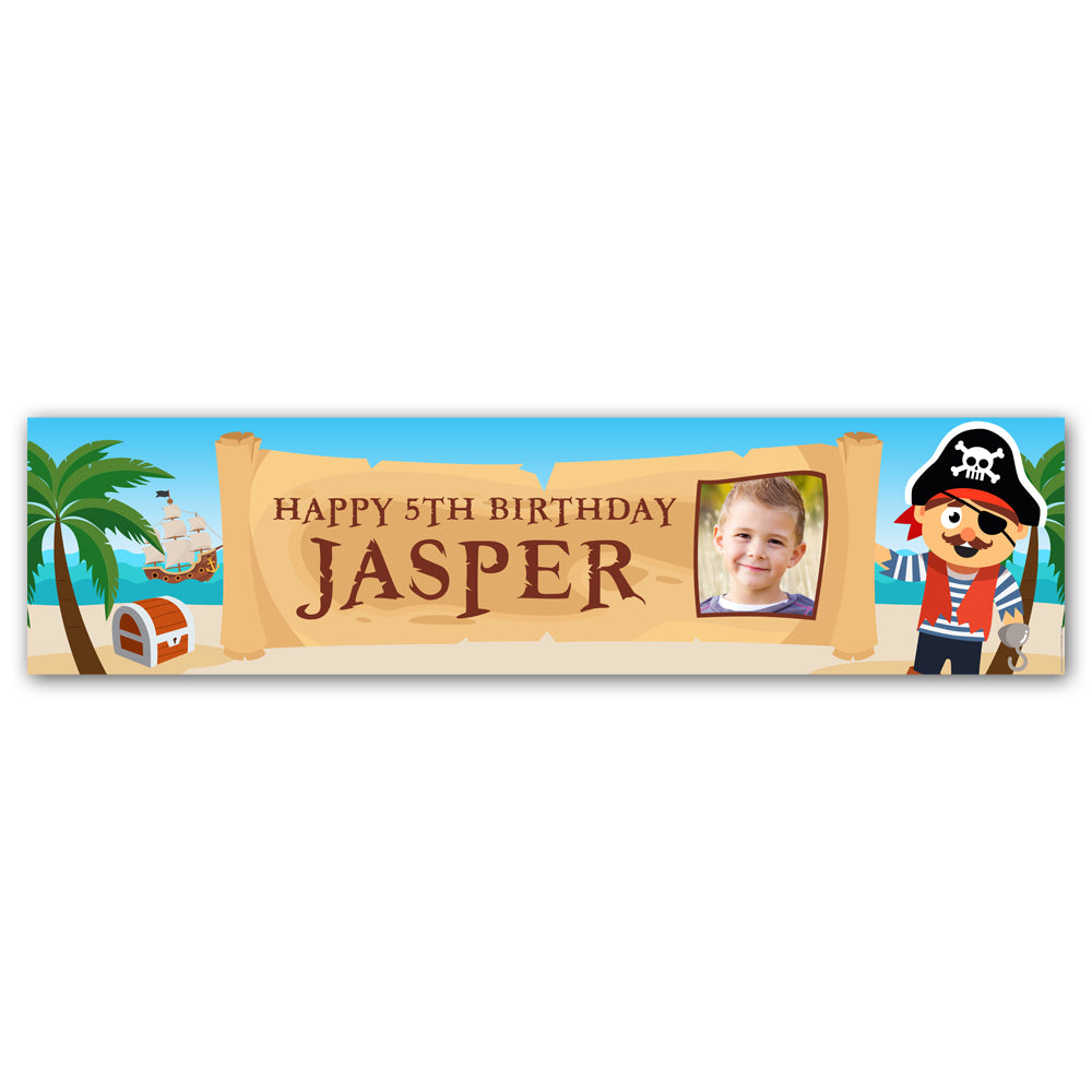 Pirate Personalised Photo Banner Decoration - 1.2m