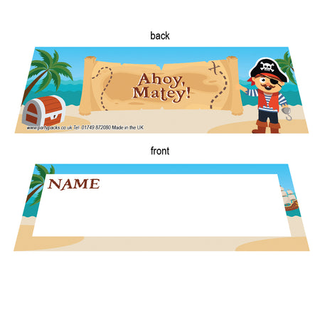 Pirate Placecards - Pack of 8