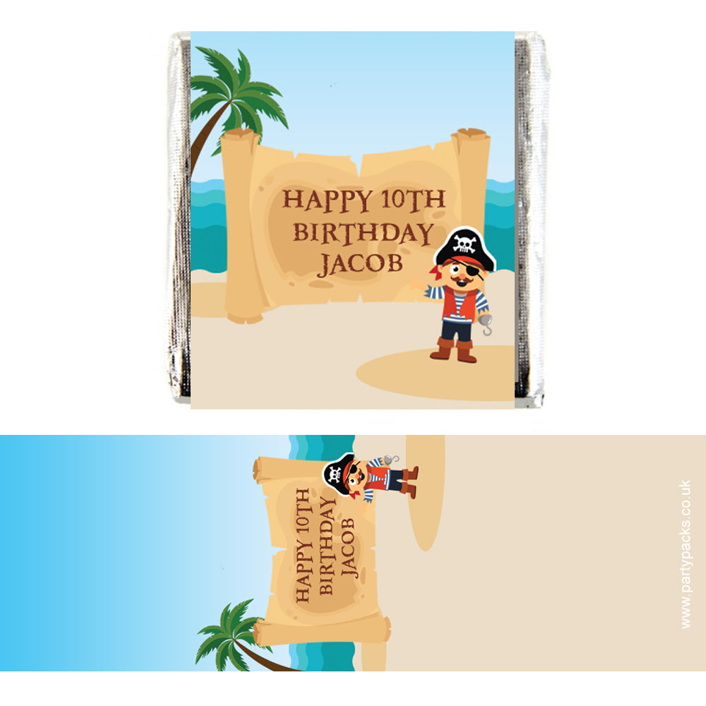 Personalised Chocolates - Pirate - Pack 16