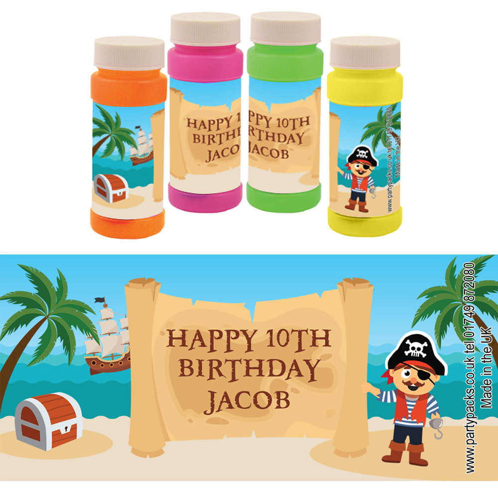 Personalised Bubbles - Pirate - Pack of 6