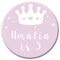 Personalised Badge 58mm- Princess