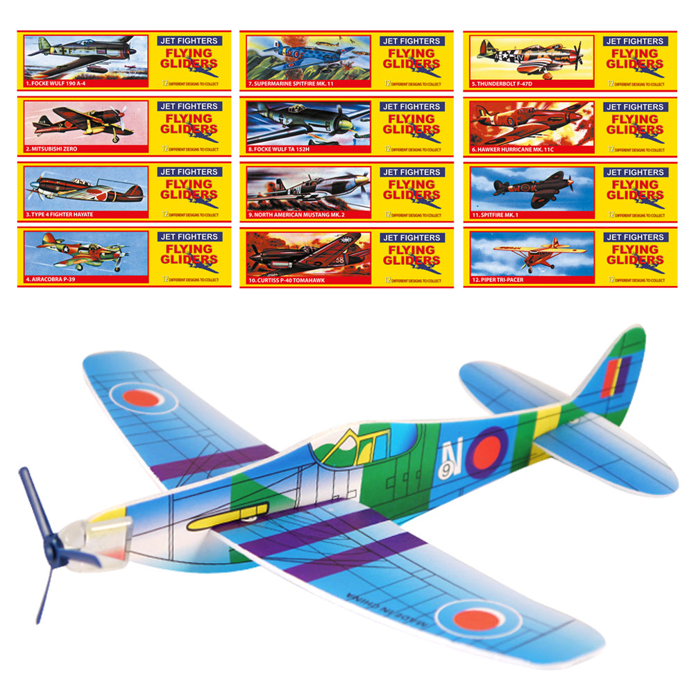 Aeroplane Toy Gliders - Assorted Designs - 20cm