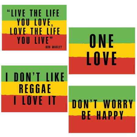Reggae Themed Posters - A3 - Pack of 4