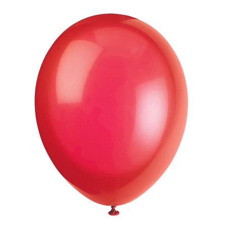Red Latex Balloons - 12