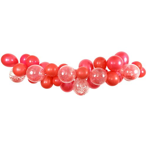 Red Mix Balloon Arch DIY Kit - 24 Balloons - 2.5m