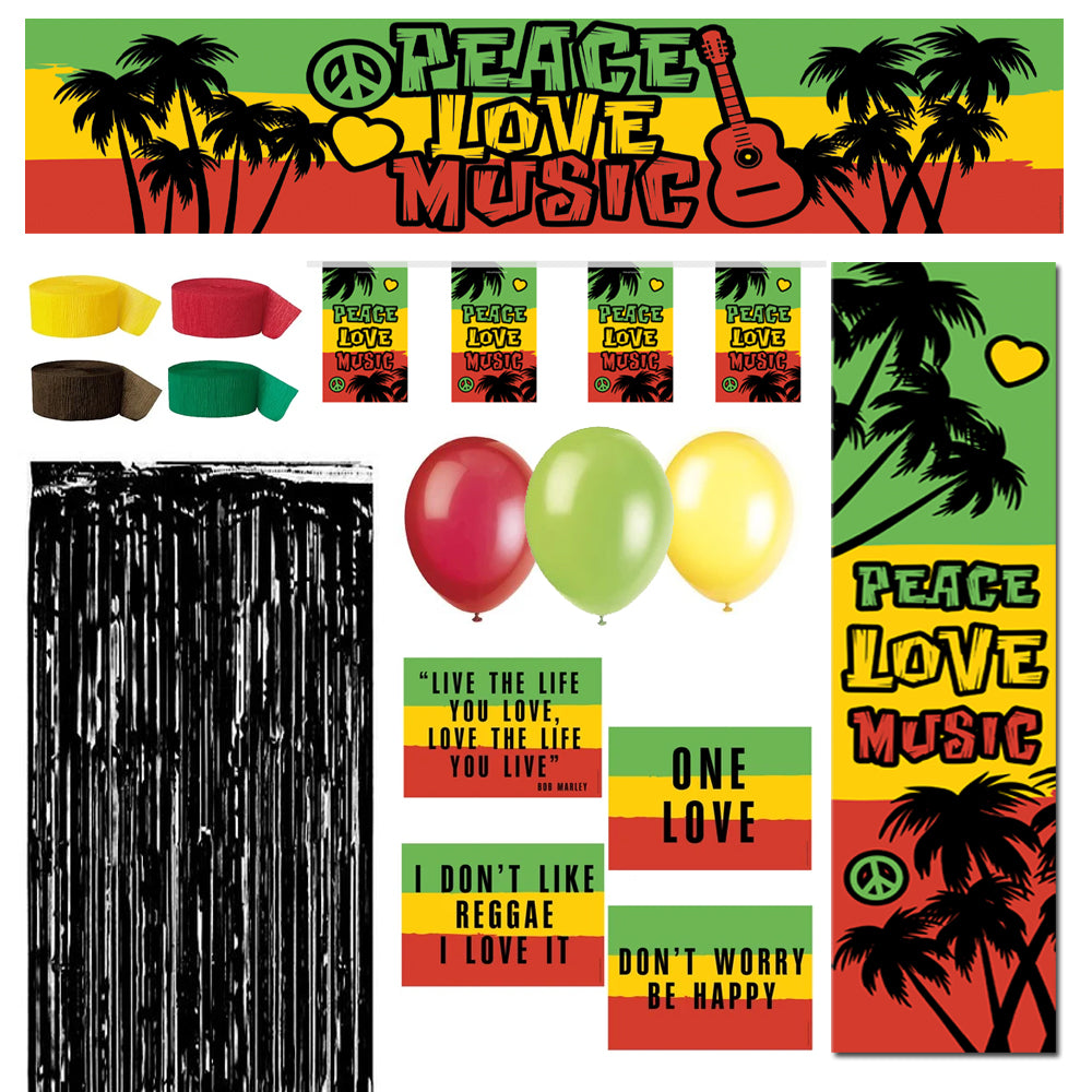 Reggae Themed Decoration Pack