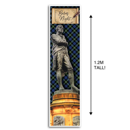 Burns Night Robert Burns Portrait Wall Banner Decoration - 1.2m