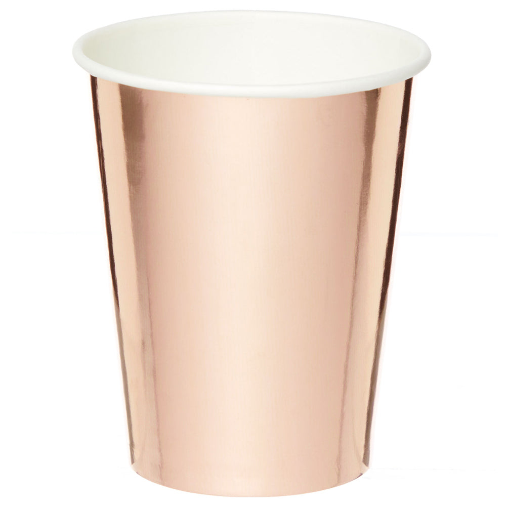 Rose Gold Metallic Foil Paper Cups