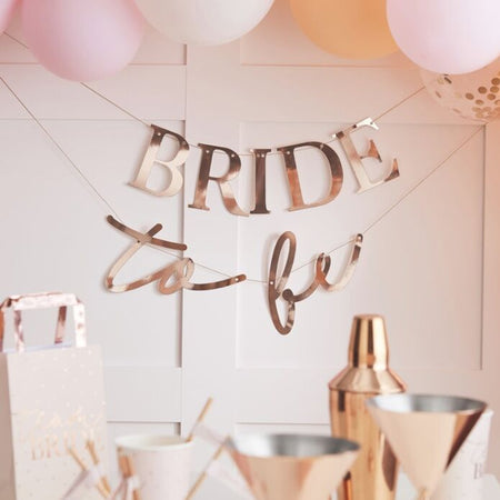 Rose Gold Bride To Be Bunting - 1.5m